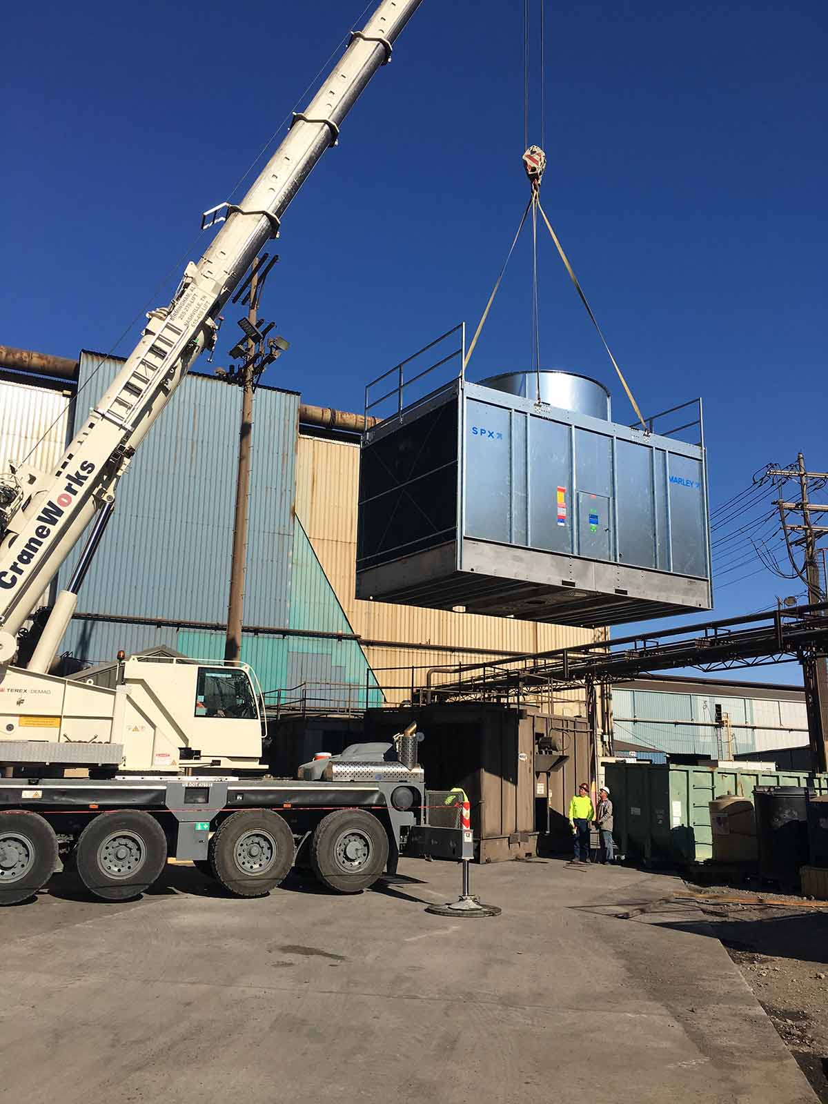 HVAC/R Cooling Tower Replacement For Process Cooling in Massachusetts